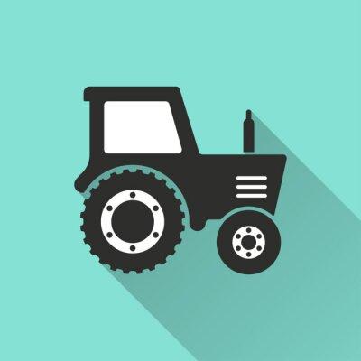 Póster Tractor - icono del vector.
