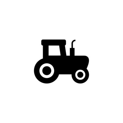 Tractor vector icon symbol. Flat Tractor icon for computer and mobile