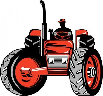 Tractor y agricultor