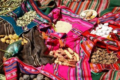 Póster Tradiciones Essen en las Islas Uros - Titicacasee, Perú