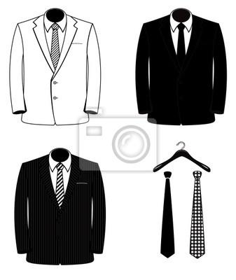 Trajes negros y hombres blancos