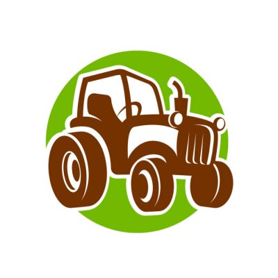 Póster traktor fermer icon