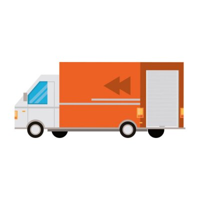 transport traffic delivery logistic cartoon