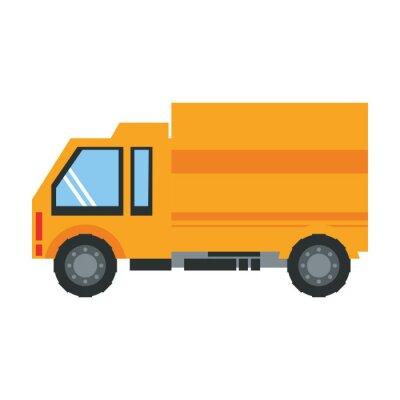 transportation truck logistic shipping cartoon