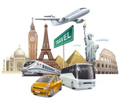 Póster Transporte y viajes
