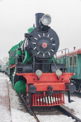 Póster tren a vapor