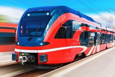 Póster Tren de alta velocidad moderno