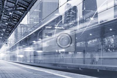 Tren de alta velocidad moderno.