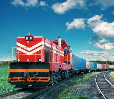 Póster tren de carga