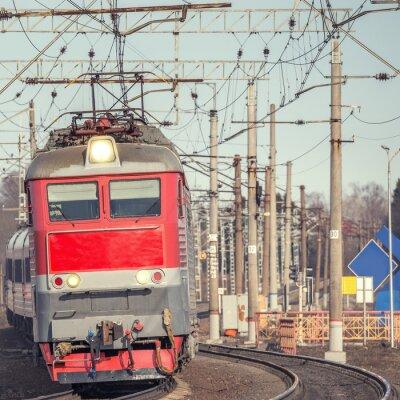 Póster Tren de pasajeros.