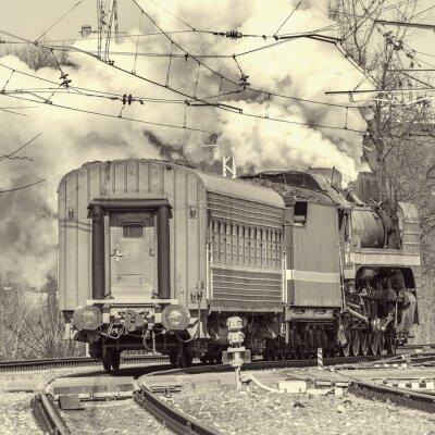 Tren de vapor retro.