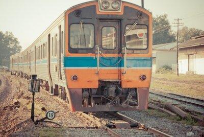 Póster Tren del vintage