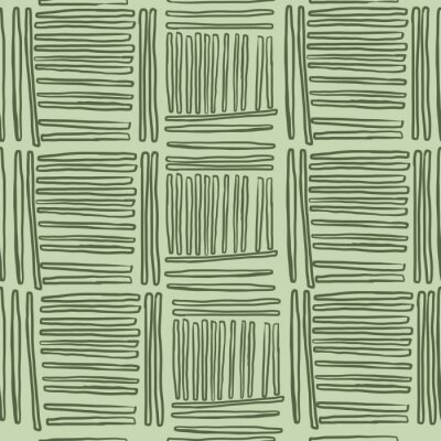 Póster Trendy Seamless Abstract Green Lines pattern. Stylish repeating texture. Modern. Simple .