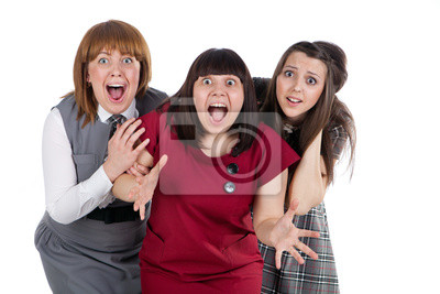 Tres chicas Surprized