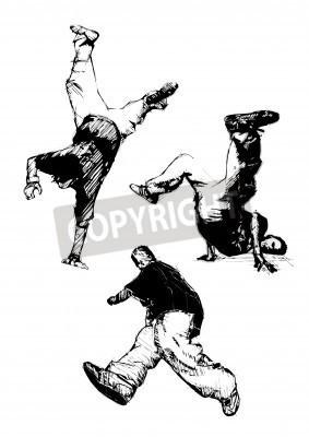 Póster trío breakdance