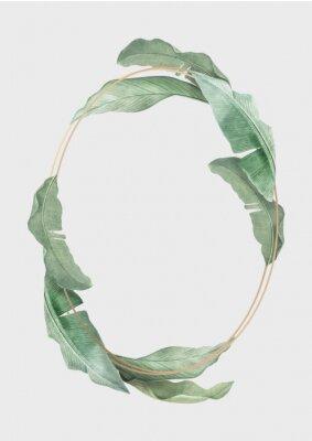 Póster Tropical leaves frame