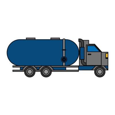 truck shipping logistic transport cartoon