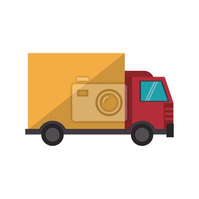 truck transport merchandise vehicle cartoon