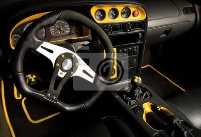 Tuned interior del coche deportivo