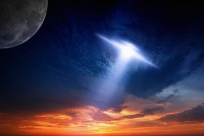 Póster Ufo in sky