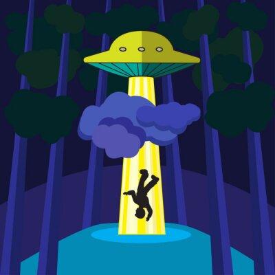 Póster UFO secuestra a una persona