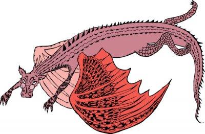 Póster Un dragón está volando