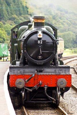 Póster Un tren de vapor llega a la estación
