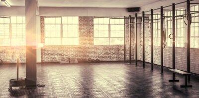 Póster Una foto de un gimnasio