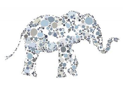 Póster Una ilustración creativa de un elefante