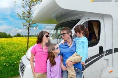 Vacaciones familiares, RV (camper) viajar con niños