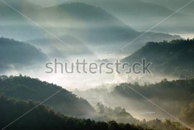 Póster valle de montaña