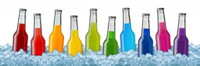 Póster Varios bebidas en hielo picado