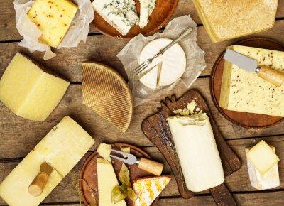 Póster Varios tipos de queso