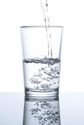 Póster Vaso con agua