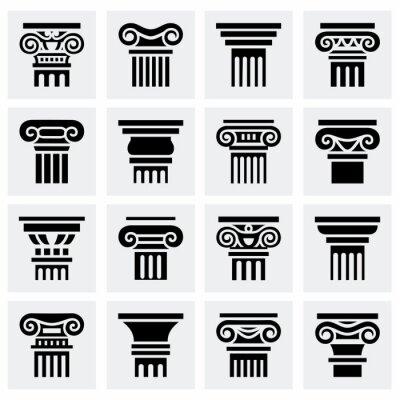 Póster Vector Conjunto de iconos de columna