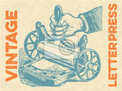 Póster Vector de tipografía de época