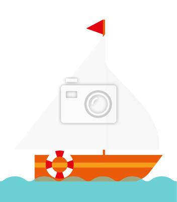 Vector del barco de vela