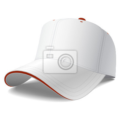 Vector gorra de béisbol blanca carteles para la pared • pósters ... 3f16e72067b