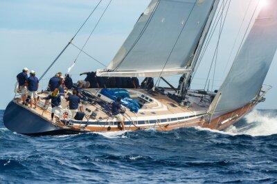 Póster Vela Velero en regata