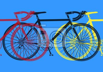 Vélo de curso pop art