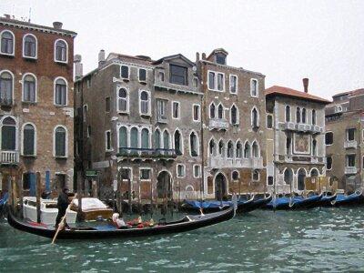 Póster venecia desenfoque