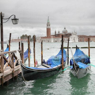 Póster Venecia en el día nublado