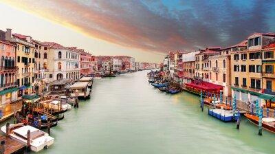 Póster Venecia - Gran canal desde el puente de Rialto