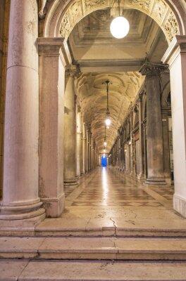 Póster Venezia, porticato di Piazza San Marco.