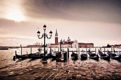 Póster Venise gondole romantique amor amoureux lagune