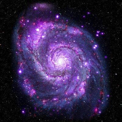 Póster Ver la imagen del sistema Galaxy aislado Elementos de esta imagen proporcionada por la NASA