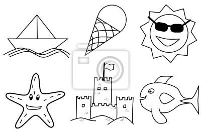 Verano Dibujos Infantiles Para Colorear Carteles Para La