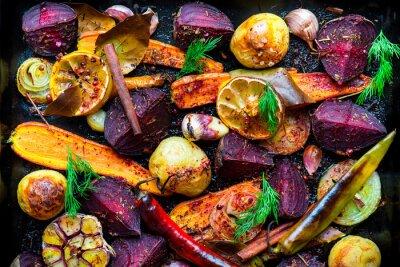 Póster Verduras asadas