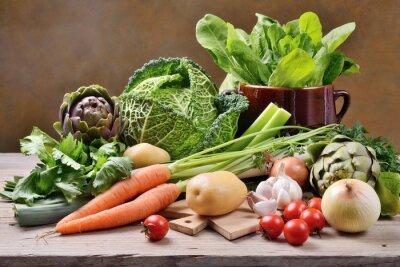 Póster Verduras mixtas