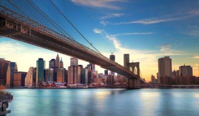 Póster Vers Pont de Brooklyn de Manhattan, Nueva York.